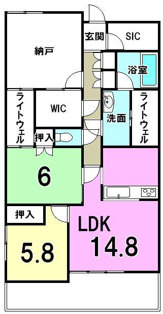マイキャッスル生田 間取