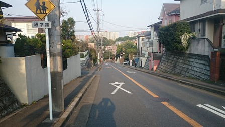 王禅寺西の街並み