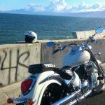 レンタルバイクで海へ脱走