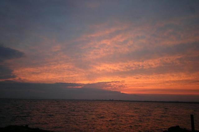 裏 江の島 夕焼け