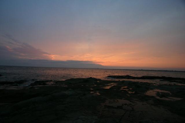裏 江の島 夕暮れ