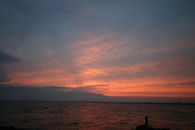 裏 江の島 夕焼け小焼け