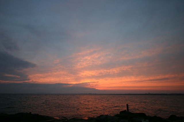 裏 江の島 夕日
