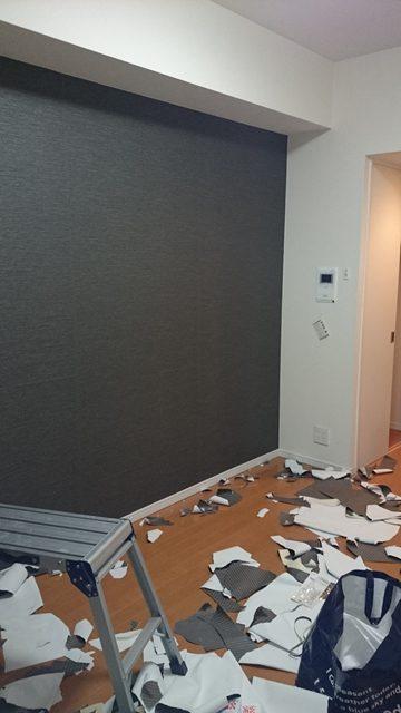 ワンポイント壁紙 貼り込み