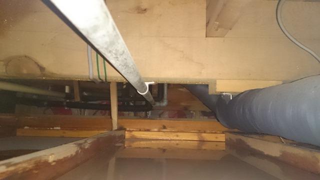 水漏れ天井裏の様子