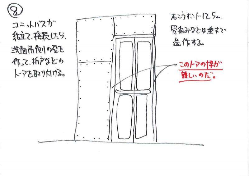 8.壁造作、ドア取付
