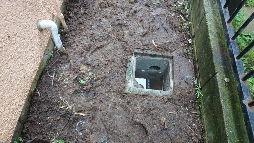 排水桝 埋め戻し