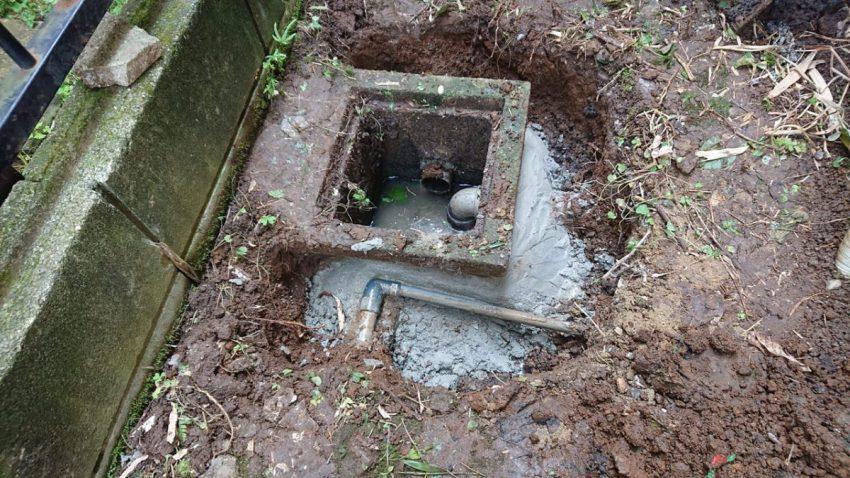 排水桝 外部穴埋め