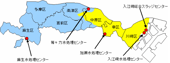 川崎市の下水道区域